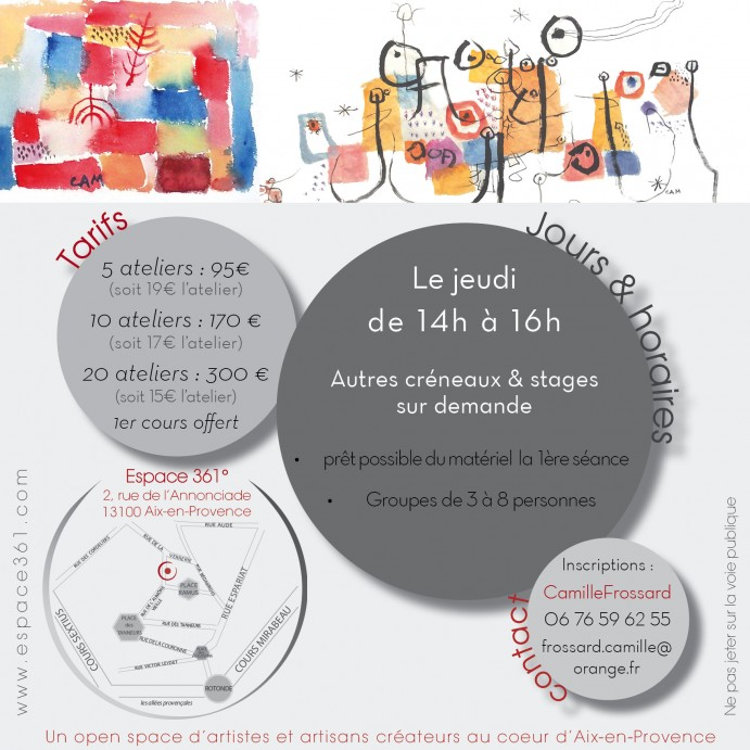 Flyer At créa aquarelle CF2
