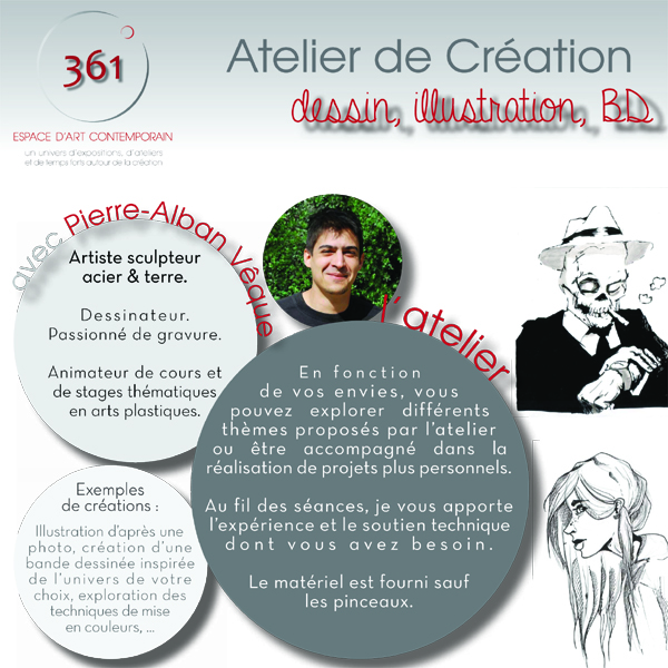Flyer Atelier création PAlban 20151