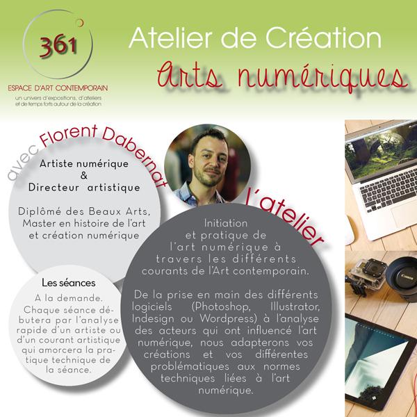Flyer At création arts numériques