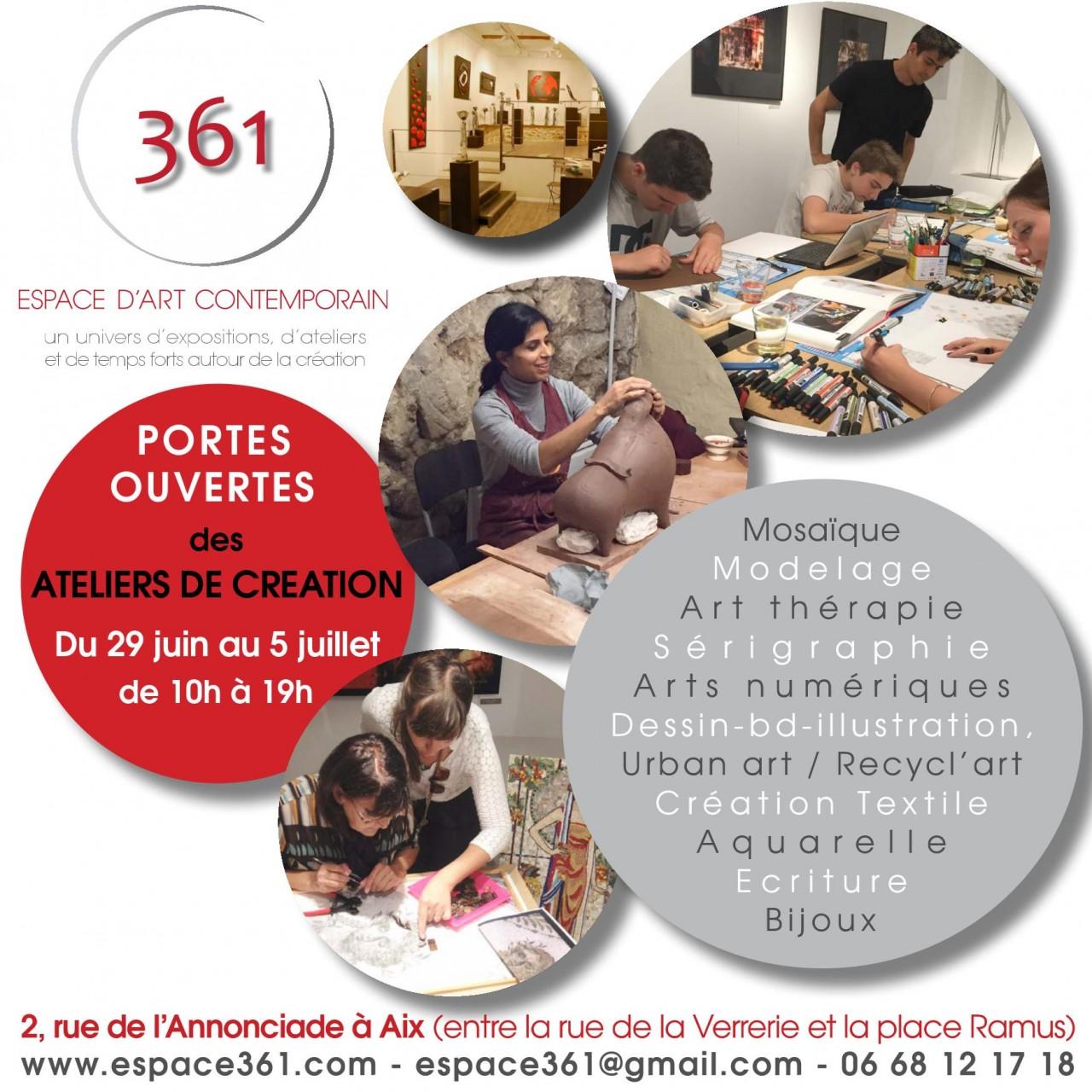 Portes ouvertes ateliers de créations espace 361 2015