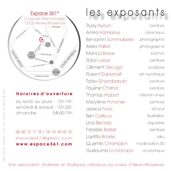 Flyer expo Jeunes Talents partie 1 verso