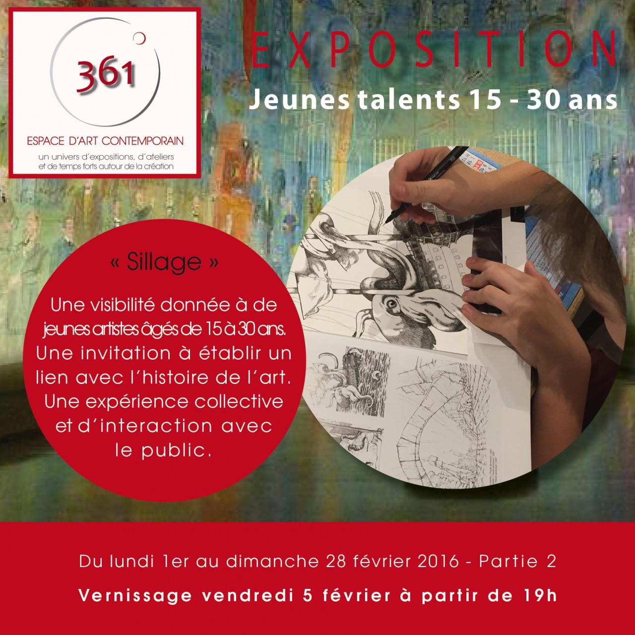 Flyer expo Jeunes Talents partie 2
