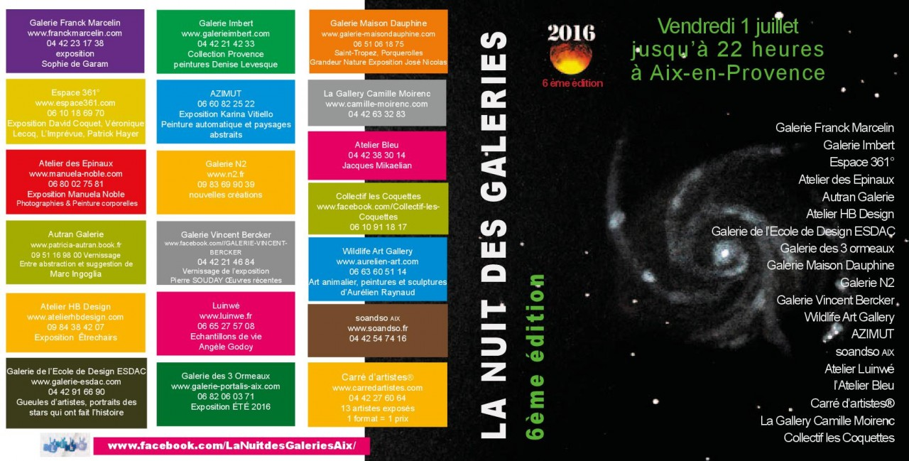Flyer Nuit des galeries 2016