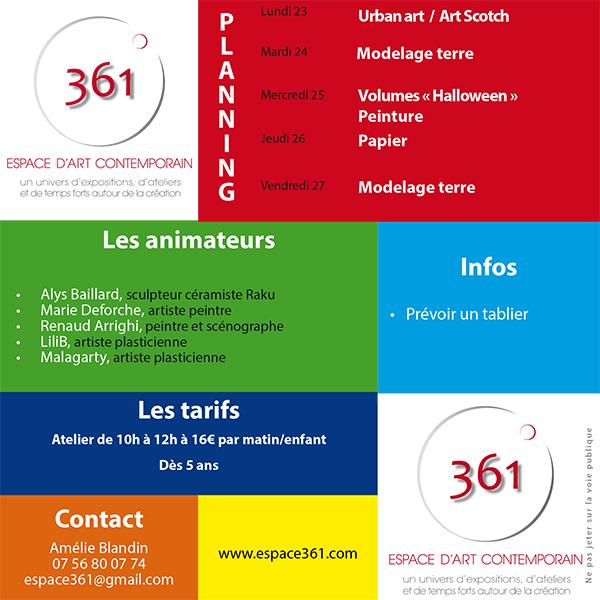 Flyer web multi-activités enfants Toussaint 2017-2