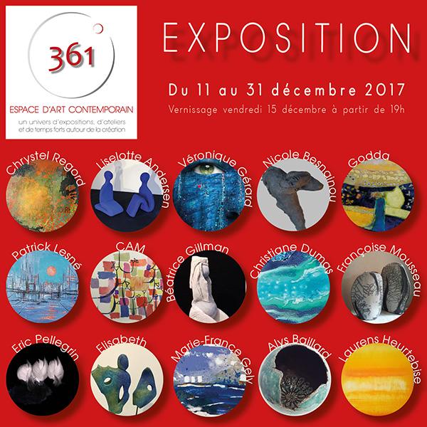 6a6097ff930306 Exposition collective de Noël 2017 • Espace 361°