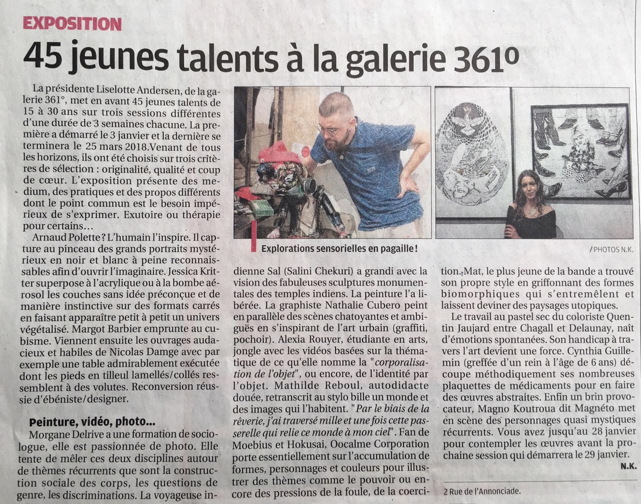 article de journal en francais