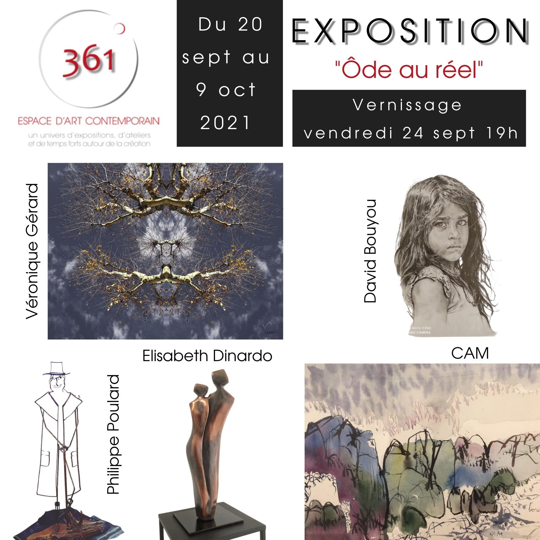 expo Ôde au réel à l'Espace 361 - Aix en Provence