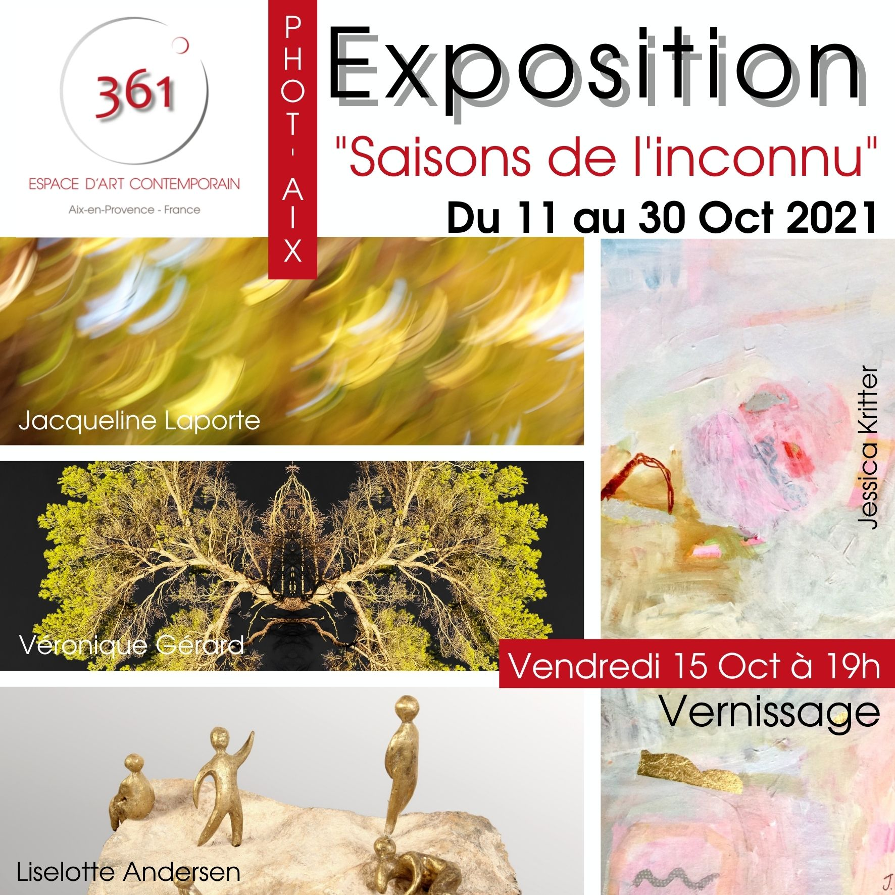 """""""Saisons de l'inconnu"""" exposition du 11 au 30 oct Espace 361°"""